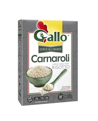 Arroz Gallo Carnaroli Para Risotto X 500 Grs