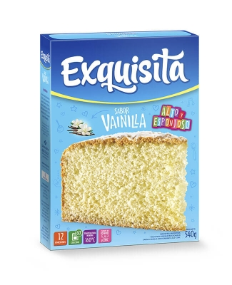 Exquisita Bizcochuelo De Vainilla X 540 Grs