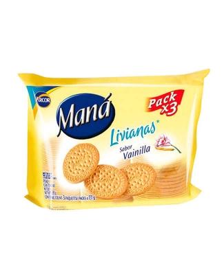 Galletitas Maná Livianas X 3 Un