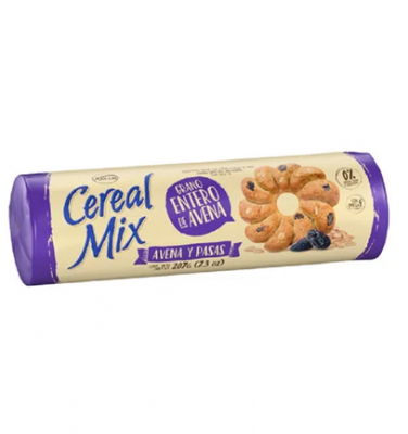 Galletitas Cereal Mix Avena Y Pasas X 107 Grs