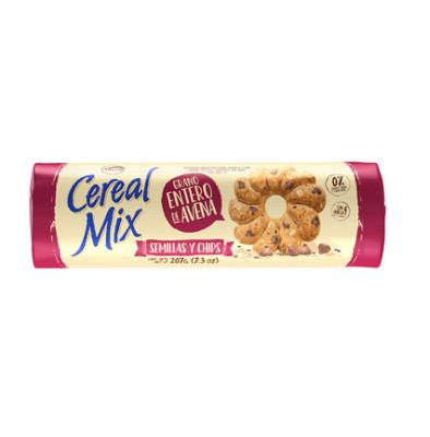 Galletitas Cereal Mix Semillas Y Chips X 107 Grs