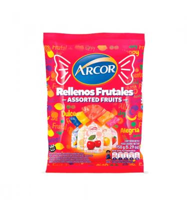 Caramelos Rellenos Frutales Arcor X 150 Grs
