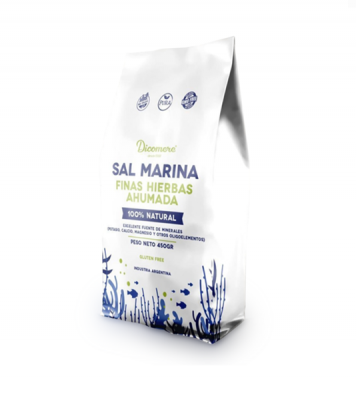 Sal Marina Con Finas Hierbas Ahumada Dicomere X 450 Grs