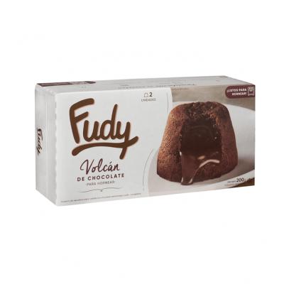 Volcan De Chocolate Congelado Fudy X 2 Unidades