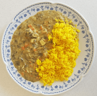 Fricasse De Pollo Con Arroz - 1 Porcion