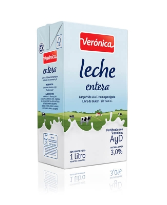 Leche Larga Vida Entera Veronica X 1 Lt