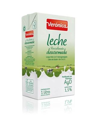Leche Larga Vida Descremada Veronica X 1 Lt