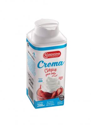 Crema De Leche Para Batir La Serenisima X 200 Cc