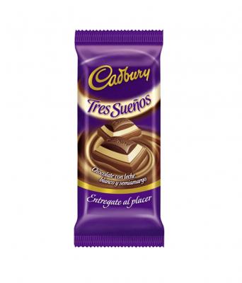 Chocolate Cadbury Tres Sueños X 80 Grs