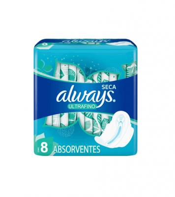 Always Toallitas Femeninas Ultrafinas Seca X 8 Unidades