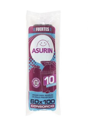Bolsas De Residuos Asurin 60 X 100 10 Un
