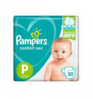 Pañales Pampers Confort Sec P X 30 Unidades