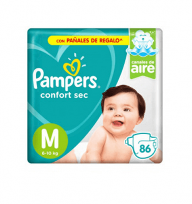 Pañales Pampers Confort Sec M X 86 Unidades